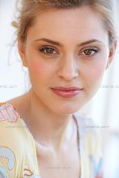 Close up of beautiful blonde woman  (AB_101303)