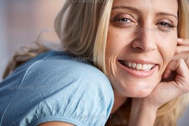 Close up of beautiful blonde woman  (AA_101377)